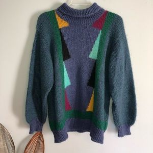 Vintage Doncaster Long Sleeve Turtle Neck Sweater